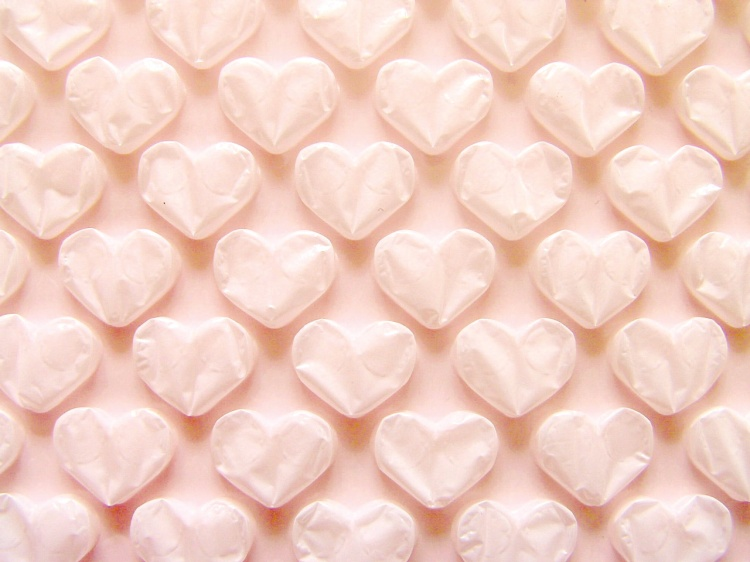Bubble wrap heart shape