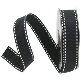 black-and-white-grosgrain-ribbon