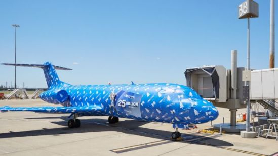 plane gift wrapped